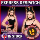 FANCY DRESS ACCESSORIES ~ LADIES ANIMAL DRESS UP KIT: Black Cat